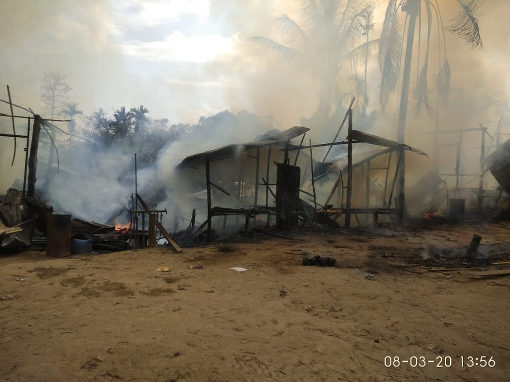 5 Houses destroyed in a fire at Tuichawng